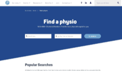 Find a Physio – online, nationwide search and booking