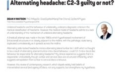 Alternating headache: C2-3 guilty or not