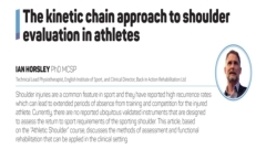 The kinetic chain approach to shoulder evaluation in athletes