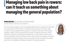 Managing low back pain in rowers; can it teach us something about managing the general population?